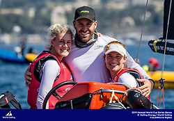Genoa, Italy is hosting sailors for the third regatta of the 2019 Hempel World Cup Series from 15-21 April 2019. More than 700 competitors from 60 nations are racing across eight Olympic Events.&copy;JESUS RENEDO/SAILING ENERGY/WORLD SAILING<br /> 20 April, 2019.