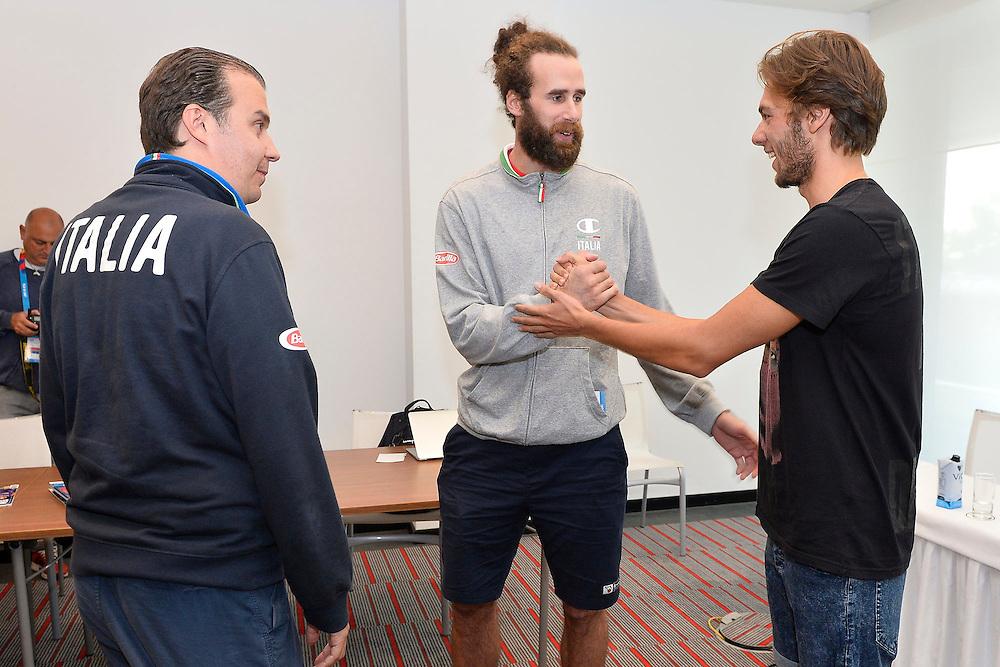 DESCRIZIONE: Berlino EuroBasket 2015 - Allenamento<br /> GIOCATORE:Luigi Datome Giorgio platiniferi<br /> CATEGORIA: Conferenza Stampa<br /> SQUADRA: Italia Italy<br /> EVENTO:  EuroBasket 2015 <br /> GARA: Berlino EuroBasket 2015 - Allenamento<br /> DATA: 04-09-2015<br /> SPORT: Pallacanestro<br /> AUTORE: Agenzia Ciamillo-Castoria/M.Longo<br /> GALLERIA: FIP Nazionali 2015<br /> FOTONOTIZIA: Berlino EuroBasket 2015 - Allenamento