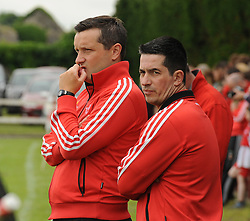 Ballintubber's John Feeney and Lynden Reilly<br /> Pic Conor McKeown