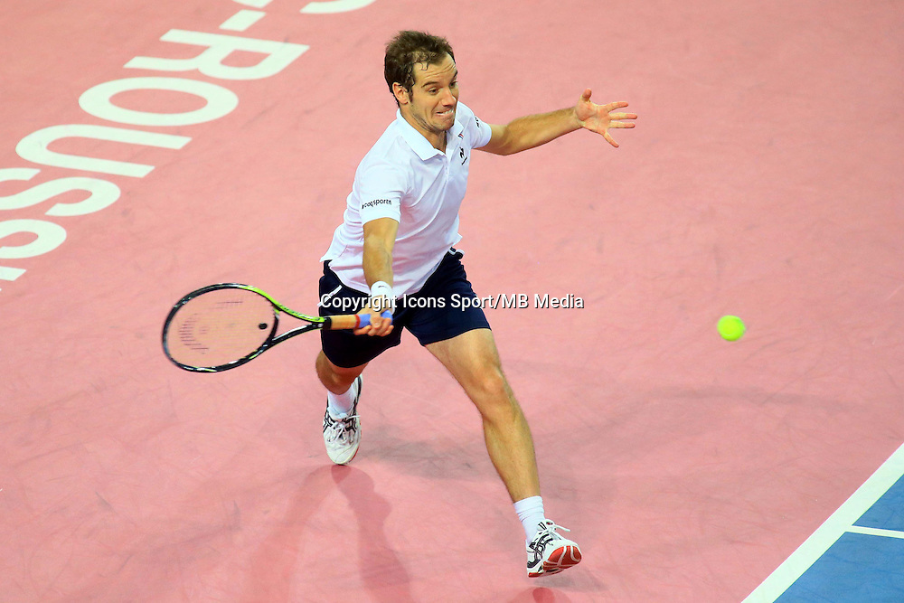 Richard GASQUET - 06.02.2015 - Tennis - Open Sud de France- Montpellier<br /> Photo : Nicolas Guyonnet / Icon Sport