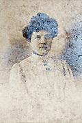 oxidizing studio portrait of an adult woman