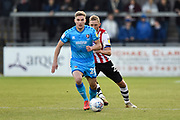 Gavin Reilly (20) of Cheltenham Town during the EFL Sky Bet League 2 match between Exeter City and Cheltenham Town at St James' Park, Exeter, England on 16 November 2019.