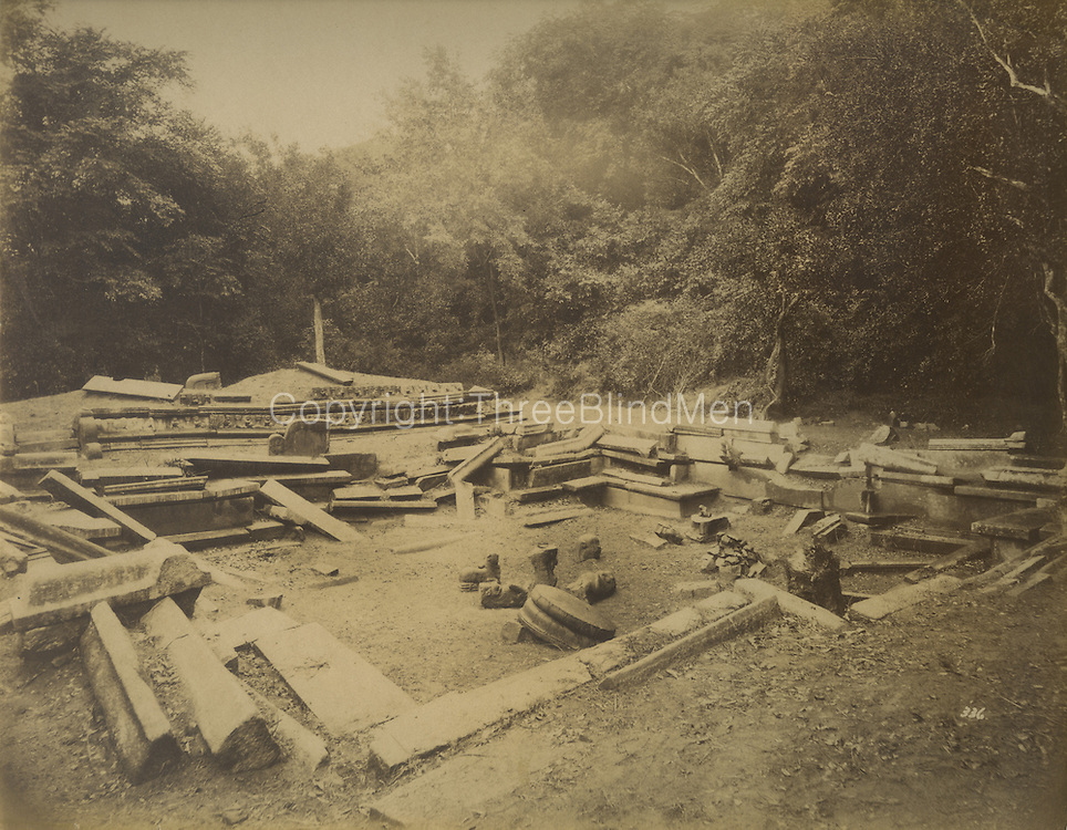 Caption on back of print reads &quot;Kumara Pokuna or Princes Bath&quot;.<br /> Skeen &amp; Co. Photographs of the historical sites of Ceylon.