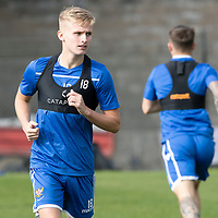 St Johnstone Training….<br />Ali McCann pictured during training at McDiarmid Park ahead of Sunday's game against Rangers<br />Picture by Graeme Hart.<br />Copyright Perthshire Picture Agency<br />Tel: 01738 623350  Mobile: 07990 594431