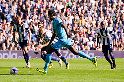 Emmanuel Adebayor (TOG) of Tottenham Hotspur strikes a penalty that is saved by Ben Foster (ENG) of West Brom - Photo mandatory by-line: Rogan Thomson/JMP - 07966 386802 - 12/04/2014 - SPORT - FOOTBALL - The Hawthorns Stadium - West Bromwich Albion v Tottenham Hotspur - Barclays Premier League.