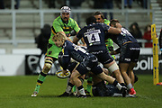 Faf De Klerk during the Aviva Premiership match between Sale Sharks and Northampton Saints at the AJ Bell Stadium, Eccles, United Kingdom on 25 November 2017. Photo by George Franks.