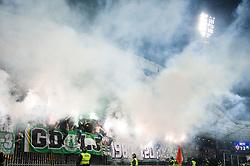 Green Dragons during football match between NK Maribor and NK Olimpija Ljubljana in Round #14 of Prva liga Telekom Slovenije 2018/19, on October 27, 2018 in Ljudski Vrt, Maribor, Slovenia. Photo by Morgan Kristan