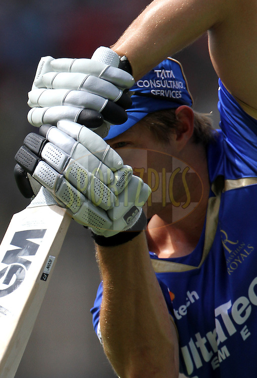 Shane Watson captain of the Rajasthan Royals during the practise session of match 25 of the Pepsi Indian Premier League Season 2014 between the Rajasthan Royals and the Kolkata Knight Riders held at the Sardar Patel Stadium, Ahmedabad, India on the 5th May  2014<br /> <br /> Photo by Vipin Pawar / IPL / SPORTZPICS      <br /> <br /> <br /> <br /> Image use subject to terms and conditions which can be found here:  http://sportzpics.photoshelter.com/gallery/Pepsi-IPL-Image-terms-and-conditions/G00004VW1IVJ.gB0/C0000TScjhBM6ikg