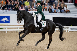 REYNOLDS Judy (IRL), Vancouver K<br /> Göteborg - Gothenburg Horse Show 2019 <br /> FEI Dressage World Cup™ Final I<br /> Int. dressage competition - Grand Prix de Dressage<br /> Longines FEI Jumping World Cup™ Final and FEI Dressage World Cup™ Final<br /> 05. April 2019<br /> © www.sportfotos-lafrentz.de/Stefan Lafrentz