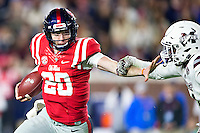 OXFORD, MS - NOVEMBER 26:  Shea Patterson #20 of the Mississippi Rebels runs the ball during a game against the Mississippi State Bulldogs at Vaught-Hemingway Stadium on November 26, 2016 in Oxford, Mississippi.  The Bulldogs defeated the Rebels 55-20.  (Photo by Wesley Hitt/Getty Images) *** Local Caption *** Shea Patterson