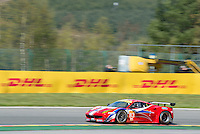 Francois Perrodo (FRA) / Emmanuel Collard (FRA) / Rui Aguas (PRT) #83 AF Corse Ferrari F458 Italia, Free Practice 1  as part of the WEC 6 Hours of Spa-Francorchamps 2016 at Spa-Francorchamps, Stavelot, , Belgium . May 05 2016. World Copyright Peter Taylor/PSP.  Copy of publication required for printed pictures.  Every used picture is fee-liable. http://archive.petertaylor-photographic.co.uk