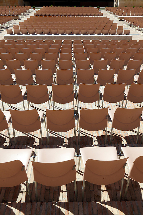 rows of chairs at an outdoors theater