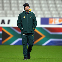 PARIS, FRANCE - NOVEMBER 09: Jacques Nienaber (Defence Coach) of South Africa during the South African national rugby team captains run at Stade de France on November 09, 2018 in Paris, France. (Photo by Steve Haag/Gallo Images)