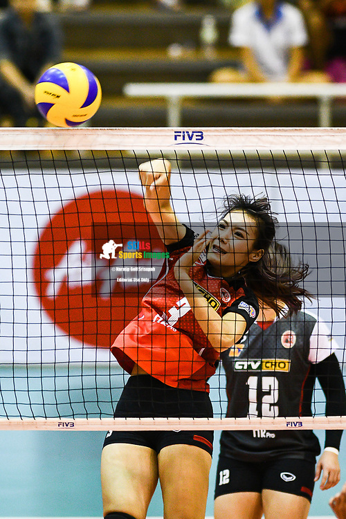 BANGKOK, THAILAND - MARCH 24: Kaewkalaya Kamulthala of Khon Kaen Star #3 in action during the 2017 Women's Volleyball Thai-Denmark Super League, MCC Hall The Mall , Bangkok, Thailand on March 24, 2017.<br /> .<br /> .<br /> .<br /> (Photo by: Naratip Golf Srisupab/SEALs Sports Images)<br /> .<br /> Any image use must include a mandatory credit line adjacent to the content which should read: Naratip Golf Srisupab/SEALs Sports Images