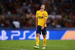 September 12, 2017 - Rome, Italy - Luciano Vietto of Atletico during the UEFA Champions League Group C football match between AS Roma and Atletico Madrid on September 12, 2017 at the Olympic stadium in Rome, Italy. (Credit Image: © Matteo Ciambelli/NurPhoto via ZUMA Press)