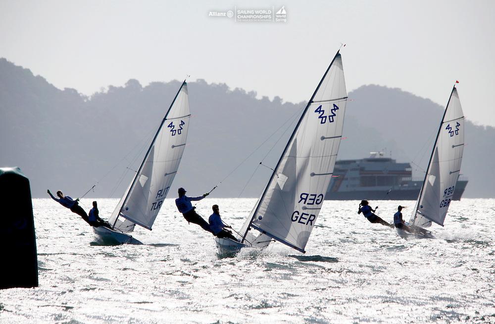 420 Women Fleet Race<br />Day2, 2015 Youth Sailing World Championships,<br />Langkawi, Malaysia