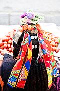 Tibetan woman in Leh.