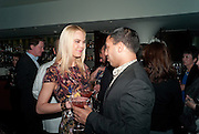 VANESSA WURM; RAVI CHOPRA, Nobu anniversary party. Met Bar, 19 Old Park Lane, London, 7 March 2012.
