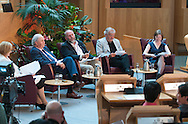 Great Tapestry of Scotland debate at the Festival of Politics 2012. An audience with History. Choosing which historical figures will figure in the Parliament of our Ancestors panel..picture by Alex Hewitt.alex.hewitt@gmail.com.07789 871 540