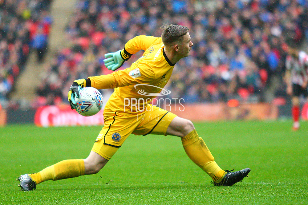 *** during the EFL Trophy Final match between Lincoln City and Shrewsbury Town at Wembley Stadium, London, England on 8 April 2018. Picture by John Potts.