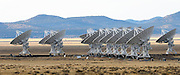 pvc121609b/12-16-09/asec.  View of radio antennas in a tight formation at the Very Large Array near Socorro Wednesday Dec. 16, 2009.  (Pat Vasquez-Cunningham/Journal)