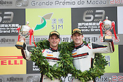 November 16-20, 2016: Macau Grand Prix. 911 Earl BAMBER, Manthey Racing, Porsche 911 GT3R, 912 Kévin ESTRE, Manthey Racing, Porsche 911 GT3R