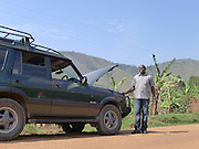 The vehicle broke down on route to a project visit with Mile 91 in Uganda.