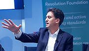 Ed Miliband MP <br /> guest speaker at <br /> Resolution Foundation, London, Great Britain <br /> 28th June 2017 <br /> <br /> After Piketty:<br /> Tackling 21st century inequality at home and abroad.<br /> <br /> Speakers:<br /> <br />  <br /> Ed Miliband MP, Former Leader of the Labour Party<br />  <br /> <br /> <br /> Photograph by Elliott Franks <br /> Image licensed to Elliott Franks Photography Services