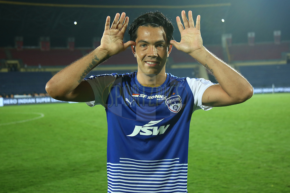Nicolas Ladislao Fedor of Bengaluru FC during match 19 of the Hero Indian Super League between NorthEast United FC and Bengaluru FC held at the Indira Gandhi Athletic Stadium, Guwahati India on the 8th December 2017<br /> <br /> Photo by: Deepak Malik  / ISL / SPORTZPICS