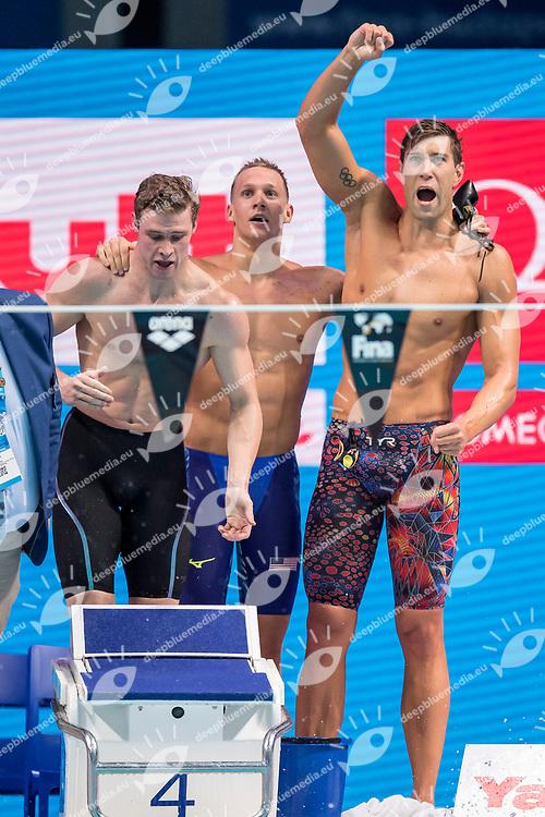 United States USA Gold Medal <br /> GREVERS Matt CORDES Kevin DRESSEL Caeleb Remel ADRIAN Nathan <br /> Men's 4x100m Medley Relay<br /> Swimming  <br /> 30/07/2017 <br /> XVII FINA World Championships Aquatics<br /> Duna Arena Budapest Hungary <br /> Photo Andrea Staccioli/Deepbluemedia/Insidefoto