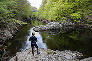 Paddling the River Gerry in Scotland with Terri Bryce and Will Taylor.