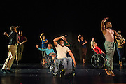 "Photographs of the Dancing Wheels Company & School rehearsal for ""The Lasting Legacy"" performance at Baker Center Theater on the Ohio University campus in Athens, Ohio on Oct. 13, 2015. The Dancing Wheels Company & School has been advocating and performing physically integrated dance for over 30 years.<br />  <br /> [Photograph by Joel Prince]"