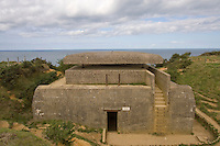 Command post range finder at the German World War Two heavy gun battery at Longues sur Mer ..., Travel, lifestyle