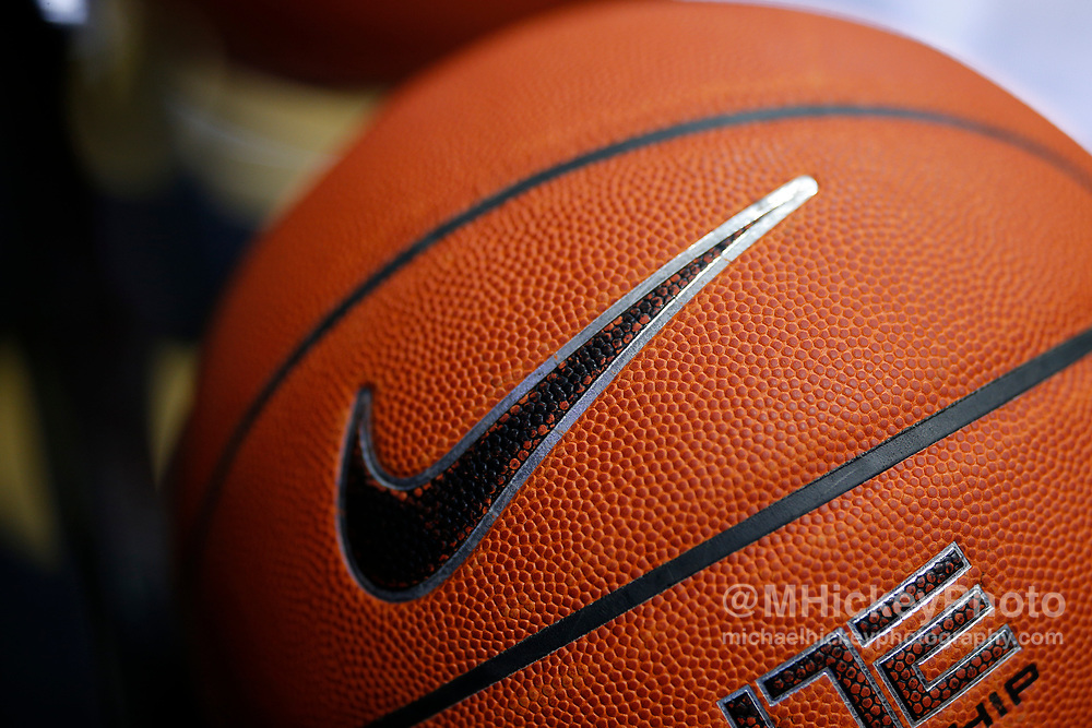 WEST LAFAYETTE, IN - DECEMBER 20: A Nike basketball is seen before the Purdue Boilermakers and Ohio Bobcats game at Mackey Arena on December 20, 2018 in West Lafayette, Indiana. (Photo by Michael Hickey/Getty Images)