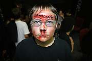 22/04/07 NW. Armageddon Pulp Culture Expo 2007 at TSB Bank Arena. Victor Labotsky of Johnsonville after getting wounded by special effects artists from the Cut Above Academy..Photo: Crispin Anderlini