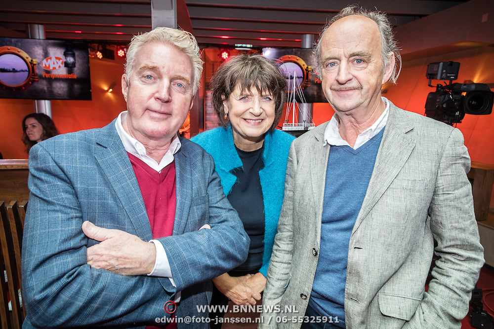 NLD/Amsterdam/20161013 - Perspresentatie Omroep Max, Andre van Duin, Olga Zuiderhoek en Kees Hulst