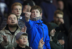 EDITORS NOTE GESTURE Fans exchange insults in the stands before during the Sky Bet Championship match at Hillsborough, Sheffield.
