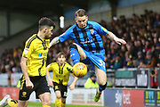 Gillingham FC midfielder Mark Byrne (33) controls the ball during the EFL Sky Bet League 1 match between Burton Albion and Gillingham at the Pirelli Stadium, Burton upon Trent, England on 12 January 2019.