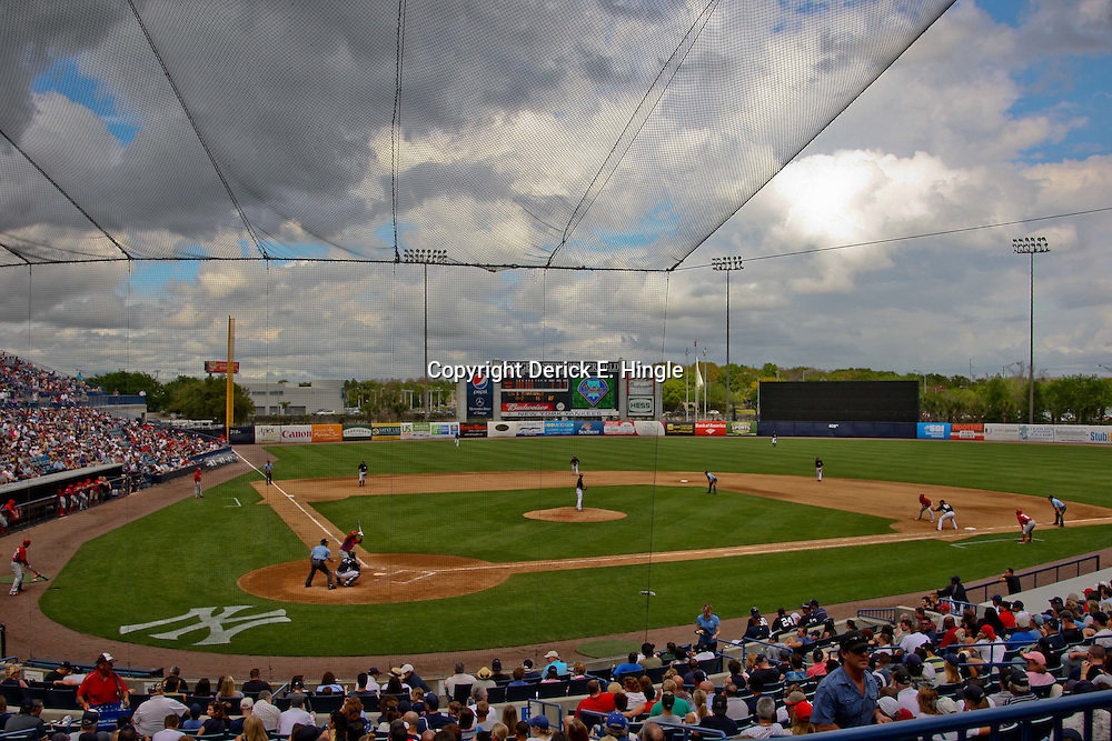 March 11, 2012; Tampa Bay, FL, USA; A general view during a spring training game between the New York Yankees and the Philadelphia Phillies at George M. Steinbrenner Field. Mandatory Credit: Derick E. Hingle-US PRESSWIRE