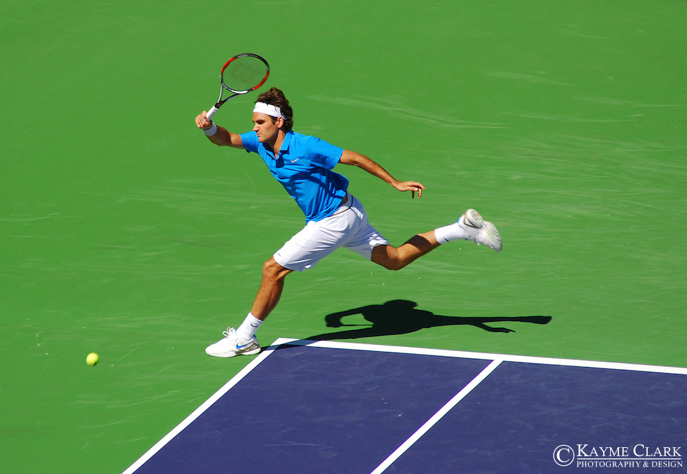 Roger Federer, Switzerland, ATP Player, Pacific Life Open Tennis Tournament, Indian Wells Tennis Garden, California, United States