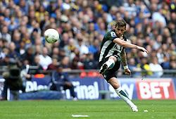 Graham Carey of Plymouth Argyle shoots from a free kick - Mandatory by-line: Robbie Stephenson/JMP - 30/05/2016 - FOOTBALL - Wembley Stadium - London, England - AFC Wimbledon v Plymouth Argyle - Sky Bet League Two Play-off Final