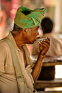 A Burmese men drinking tea