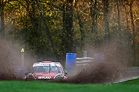 #38 Ben Wilkinson / Andrew Wilkinson Peugeot 106  Bolton - le - Moors CC / David Brownduring Neil Howard Memorial Stage Rally, and opening round of the 2015 Motorsport News Rally Championship.  at Oulton Park, Little Budworth, Cheshire, United Kingdom. November 07 2015. World Copyright Peter Taylor. Copy of publication required for printed pictures.  Every used picture is fee-liable. http://archive.petertaylor-photographic.co.uk
