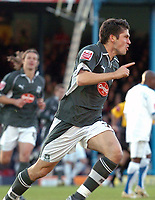 Photo: Ashley Pickering.<br />Southend United v Plymouth Argyle. Coca Cola Championship. 18/11/2006.<br />Bojan Djordjic celebrates the opening goal for Plymouth