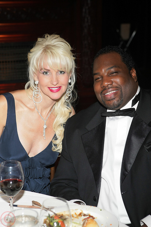 l to r: Katrina Peeples and Aaron Thomas at The 2009 NV Awards: A Salute to Urban Professionals sponsored by Hennessey held at The New York Stock Exchange on February 27, 2009 in New York City. ....