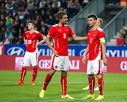 30.05.2014, Tivoli Stadion, Innsbruck, AUT, Fussball Testspiel, Oesterreich vs Island, im Bild (v.l.) Stefan Ilsanker (AUT), Aleksandar Dragovic (AUT) // Stefan Ilsanker (AUT) (L) Aleksandar Dragovic (AUT) (R) during the International Friendly between Austria and Iceland at the Tivoli Stadion in Innsbruck, Austria on 2014/05/30. EXPA Pictures © 2014, PhotoCredit: EXPA/ Johann Groder