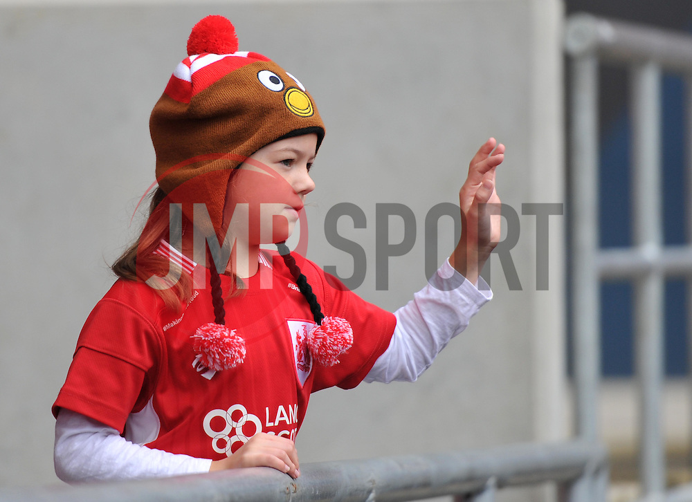 Bristol City supporter waves - Mandatory by-line: Paul Knight/JMP - 22/10/2016 - FOOTBALL - Ashton Gate Stadium - Bristol, England - Bristol City v Blackburn Rovers - Sky Bet Championship