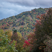 Black Mountain surrounded by fall color