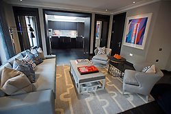 **Home supplement** © Ben Cawthra. 22/01/2013. A living area at the penthouse apartment of The Lansbury, on Basil Street, London, recently refurbished in to 6 luxury apartments opposite Harrods in central London. Photo credit: Ben Cawthra.