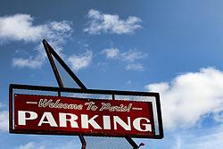 Paris, Texas parking lot near downtown.